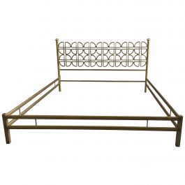 Mid-Century Modern Italian Solid Brass Double Bed in the Style of Borsani, 1970s