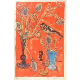 Francoise AdnetFrancoise Adnet Still Life signed Lithograph Mid Century French c1950-60c1950-1960
