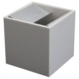 White Cubo Ashtray by Bruno Munari for Danese Milano, circa 1957, Midcentury