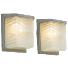 Pair of French Holophane Wall Lights Sconces c1950