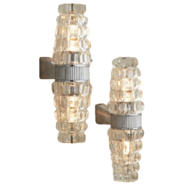 French Mid Century Double Torchère Wall Lights Circa 1970