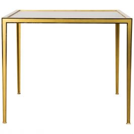 Brass & Mirror Side Table from Vereinigte Werkstätten, 1960s