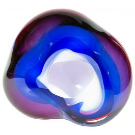 Chromatic Vug in Blue and Fuchsia Unique Glass Sculpture by Samantha Donaldson