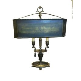 Early 20th Century Ornate Brass Lamp