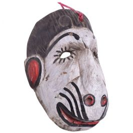 1960s Guatemalan Folk Art Monkey Dance Mask