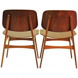1950s Borge Mogensen Set of Two Shell Chairs in Oak and Teak