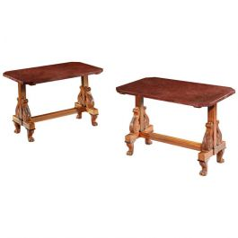 Pair of Satinwood Occasional Tables