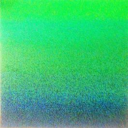 Akasa 2013 Green Oil And Mineral Pigments On Canvas