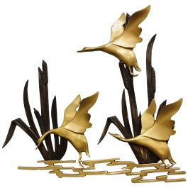 Vintage Brass Bird Sculpture, 1970s