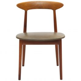 Danish Teak Chair by Kurt Østervig with Wooden Inlay Back Support