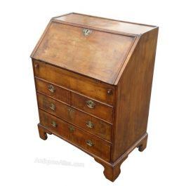 19th Century Walnut Bureau of Small Proportions