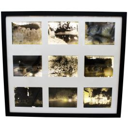 Antique French Photography Plate Montage in Light Box 1