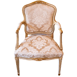 A George III upholstered armchair