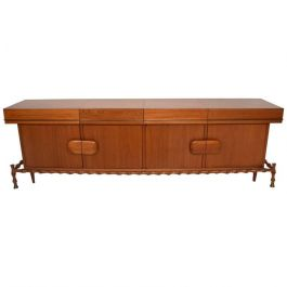 1960s Mexican Floating Bamboo Credenza By Frank Kyle