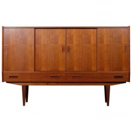 Teak Highboard by Børge Seindal for P. Westergaard, Danish Design, 1960s