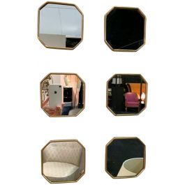 Set of small octagonal mirrors