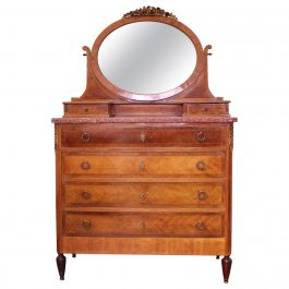 Louis XVI Style Dressing Chest of Drawers French Marquetry