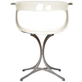 1958s Sculptural Lotus Chair By Estelle & Ewin Laverne
