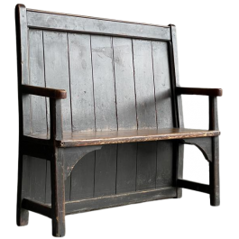 An early C19th English pine Settle