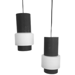 Pair of pendant lamps, Louis Kalff for Philips, model NT61