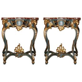 Pair of Early 19th Century French Console Tables