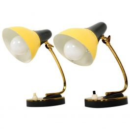 Petite Pair of Italian Table Lamps