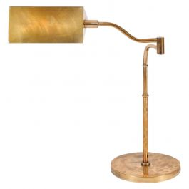1950s Brass Articulated Desk Lamp
