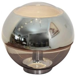 Vintage Chromed Mirror Glass Table Lamp from Peill & Putzler