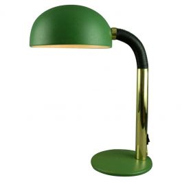 Green and Brass Metal 1960s Desk Lamp Manufactured by Kaiser Leuchten, Germany