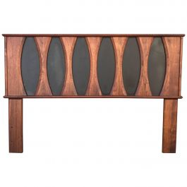Mid-Century Modern Walnut Headboard after Glenn of California Full Size