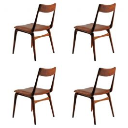 1950s Set of Four Alfred Christensen Dining Chairs in Teak, Inc. Reupholstery