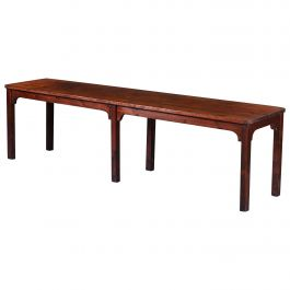 Large 19th Century English Pine Wood Farmhouse Refectory Table