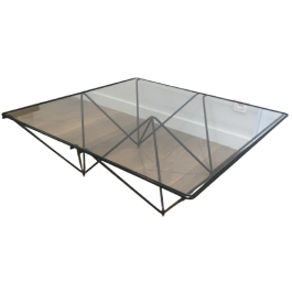 PAOLO PIVA BLACK LACQUERED PYRAMIDAL COFFEE TABLE