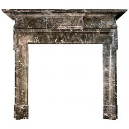 A 19th Century Antique Palladian Style Grey Fossil Marble Fireplace Mantel