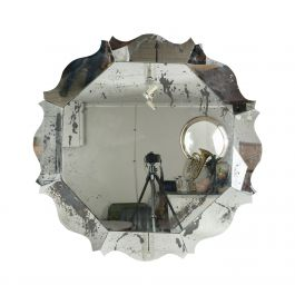 Large Hand-Made Hexagonal Scalloped Mirror