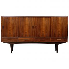 Børge Seindal Rosewood Highboard, Danish Design, 1960s