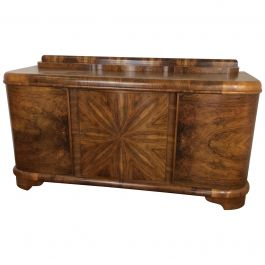 Art Deco Sideboard with Sunburst Design by Jindrich Halabala