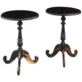 Pair of Circular Ceylonese Occasional Tables