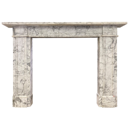 An Antique English Early 19th Century Marble Fireplace Mantel
