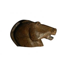 Horse Head Sculpture hand carved oak wood early C20 c1920-40
