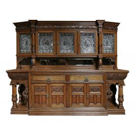 Victorian Oak Sideboard by Christopher Pratt