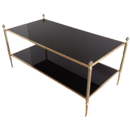NEOCLASSICAL BRONZE COFFEE TABLE