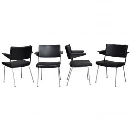 Set of Four Gispen Model 1265 Chairs by Cordemeyer, 1963