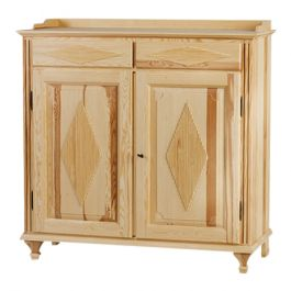 Gustavian 2 Door Buffet: Diamond