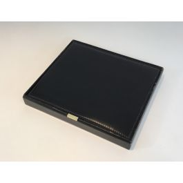 Leather And Brass Box For Documents