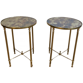 Maison Jansen Style. Pair Neoclassical Side Tables
