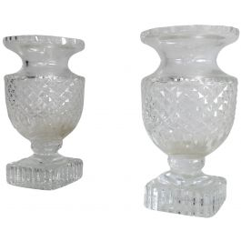 Pair of Medicis Style Cristal Vases. French