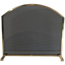 Neoclassical Style Brass fire Place Screen. French