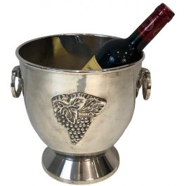 Silver Plated Champagne Bucket with Grappes Decor