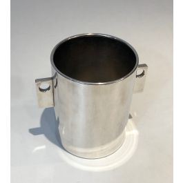 ART DECO SILVER PLATED CHAMPAGNE BUCKET. FRENCH. C